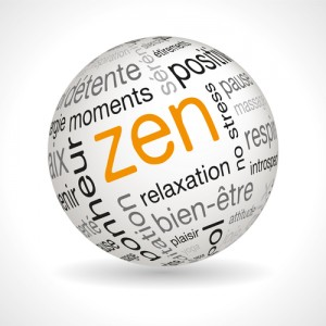 French Zen theme sphere with keywords full vector