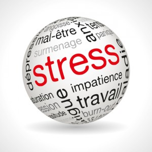 French stress theme sphere with keywords full vector